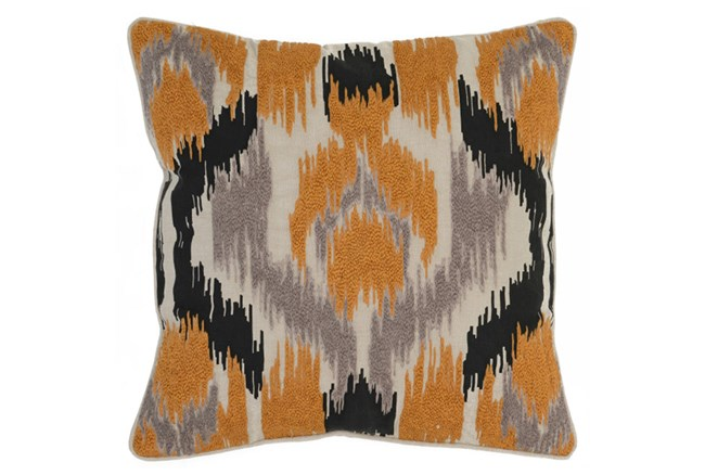 Accent Pillow-Apricot Textured Ikat 22X22 - 360
