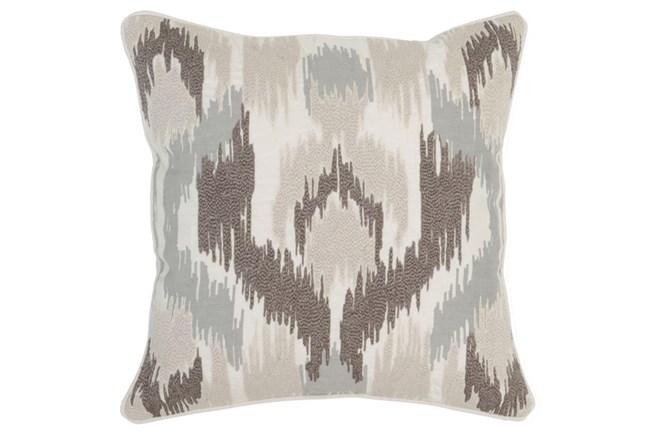 Accent Pillow-Ivory Textured Ikat 22X22 - 360