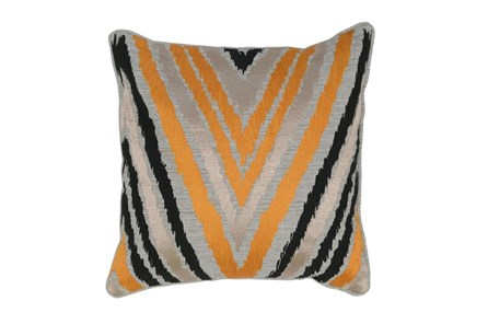 Accent Pillow-Apricot Chevron 18X18