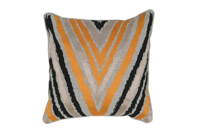 Accent Pillow-Apricot Chevron 18X18 - 360