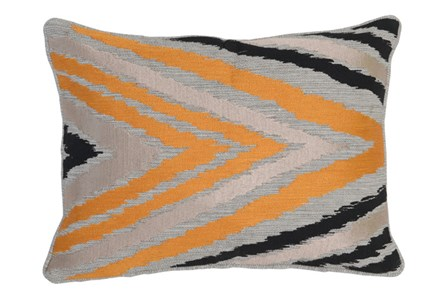 Accent Pillow-Apricot Side Chevron 14X20