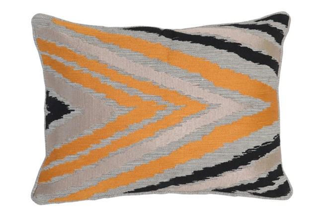 Accent Pillow-Apricot Side Chevron 14X20 - 360
