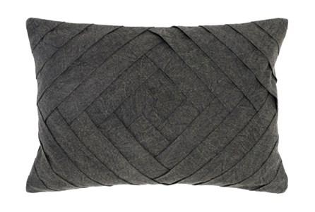 Accent Pillow-Onyx Pleated Diamond 14X20