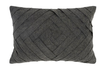 Accent Pillow-Onyx Pleated Diamond 14X20 - Main