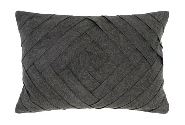 Accent Pillow-Onyx Pleated Diamond 14X20 - 360
