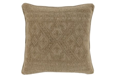 Accent Pillow-Taupe Tonal Tribe 22X22