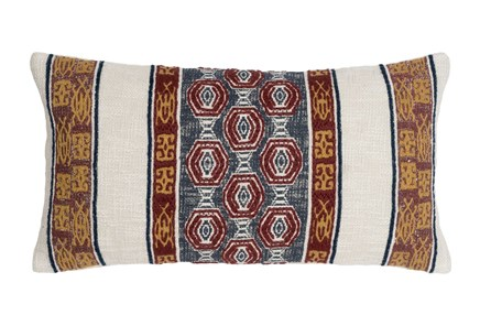 Accent Pillow-Tribe Bands Multi 14X26 - Main