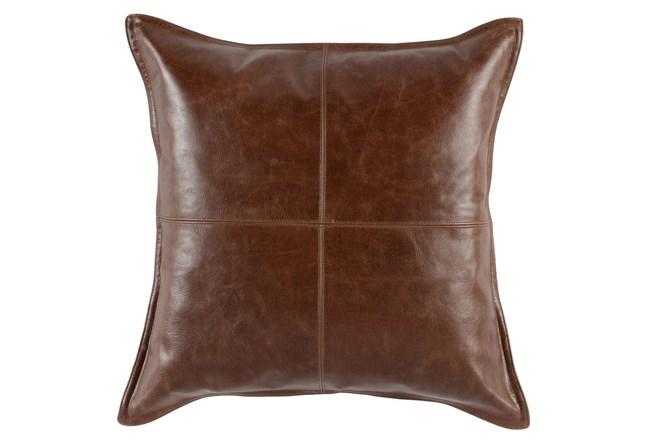 Accent Pillow-Cognac Leather 22X22 - 360