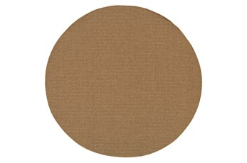 94 Inch Round Outdoor Rug-Ryker Natural