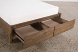 Nelson Eastern King Platform Bed W/Storage - Top