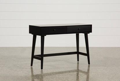 Alton Black Writing Desk Living Spaces