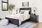 Keane Charcoal Queen Panel Bed - Room
