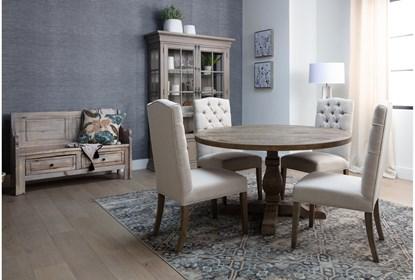 Caden 5 Piece Round Dining Set Living Spaces
