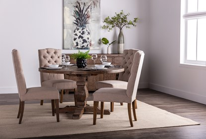 Caden Round Dining Table Living Spaces