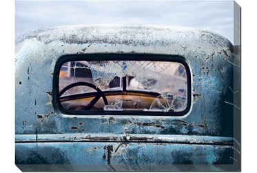 36X48 Old Blue Car