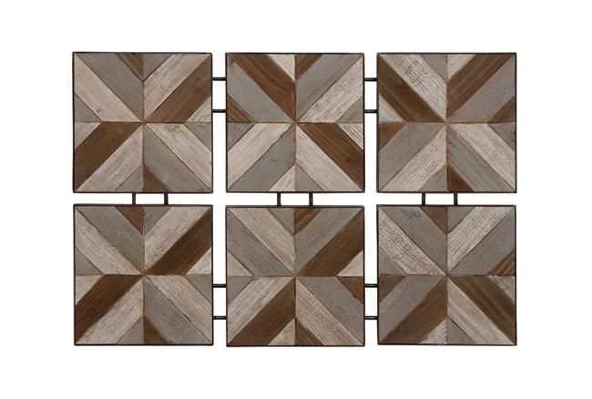 6 Piece Set Wood Metal Wall Decor - 360