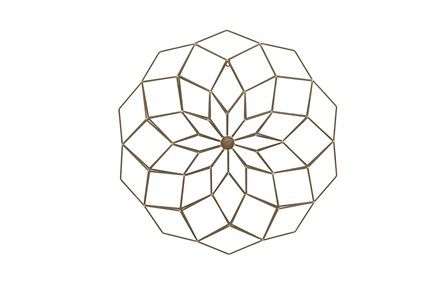 Metal Circle Wall Decor - Main