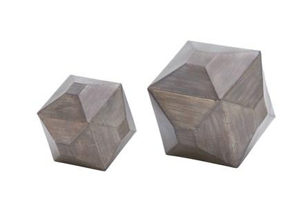 2 Piece Gunmetal Table Decor