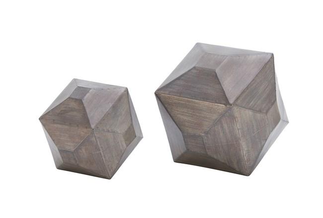 2 Piece Gunmetal Table Decor - 360