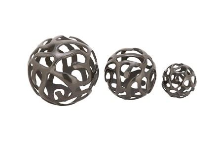 3 Piece Set Black Aluminum Balls - Main