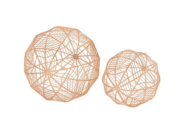 2 Piece Set Metal Wire Orbs - 360