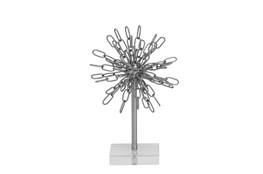 Metal Acrylic Silver Decor