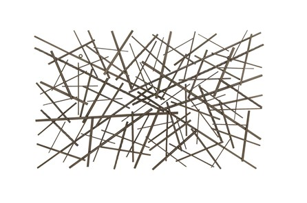 Abstract Rectangle Metal Wall Decor - Main