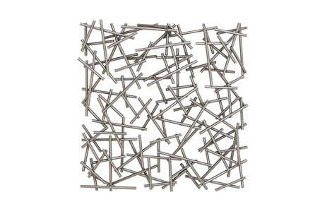 Abstract Square Metal Wall Decor - Main