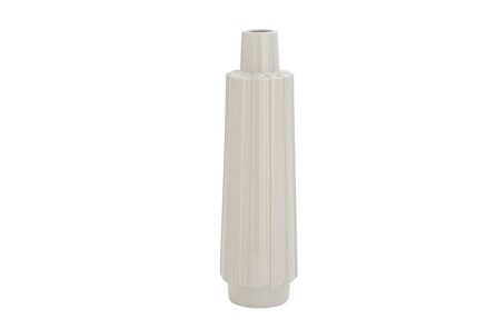 Ceramic Warm Grey Vase - Main