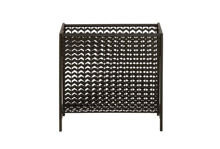 Black Metal Weave Magazine Rack