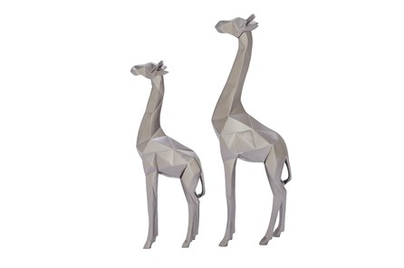 2 Piece Set Silver Giraffe - Main