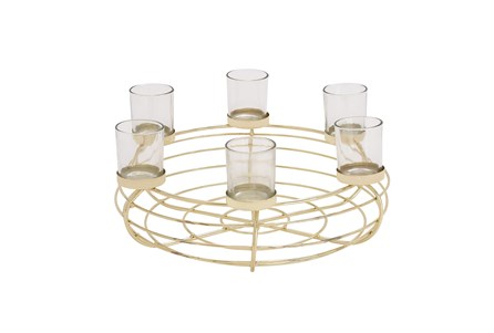7 Inch Gold Metal Candleholder