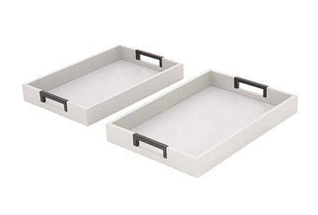 2 Piece Set Steel Trays