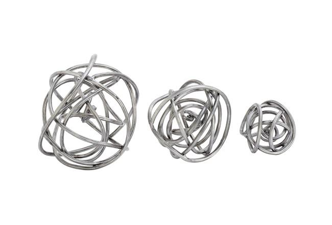3 Piece Set Metal Orbs - 360
