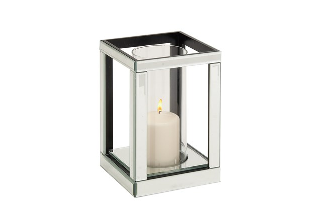 Wood Mirror Candleholder - 360