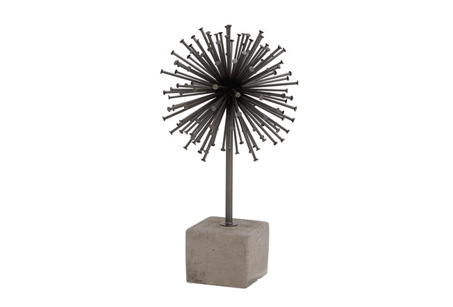 Metal + Concrete Sputnik On Base - 360