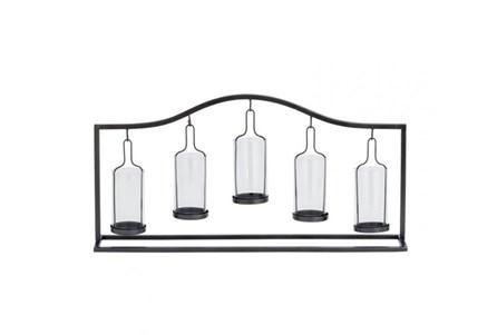 Metal Glass 5-Votive Holder