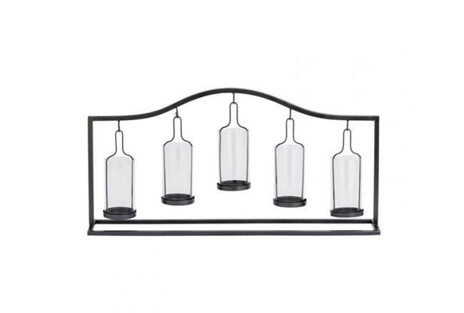 Metal Glass 5-Votive Holder - 360