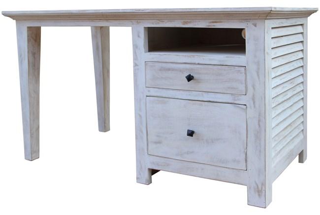 White Wash Cottage Desk - 360