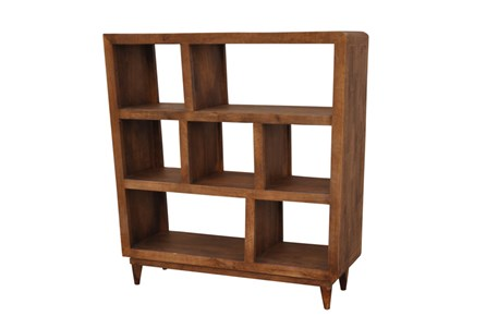 Mango Wood Sawan Finish Cube 7-Hole Display Bookcase