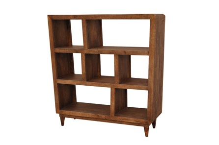 Mango Wood Sawan Finish Cube 7-Hole Display Bookcase - Main