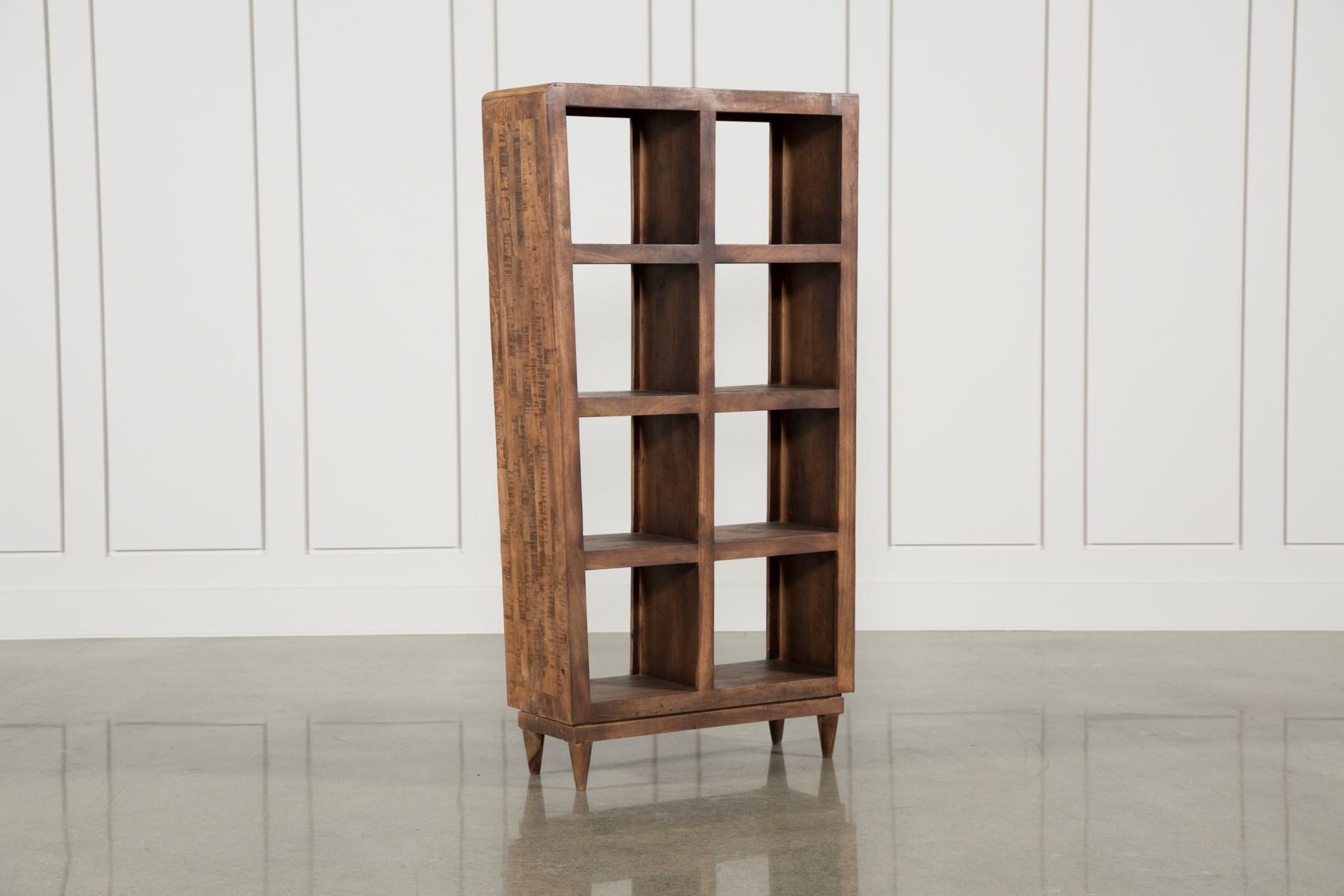 Mango Wood Sawan Finish Cube 8 Hole Display Bookcase Clearance