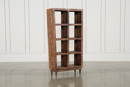 Mango Wood Sawan Finish Cube 8-Hole Display Bookcase