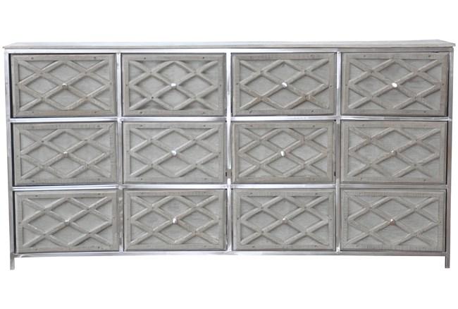 Steel & Wood 12-Drawer Steel Frame Sideboard - 360
