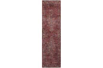 27X96 Rug-Adarra Moroccan Red