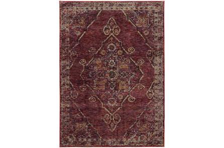 94X130 Rug-Adarra Moroccan Red