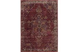 102X139 Rug-Adarra Moroccan Red
