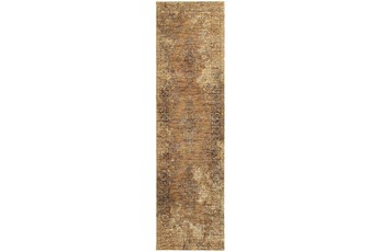 27X96 Rug-Adarra Moroccan Faded Gold