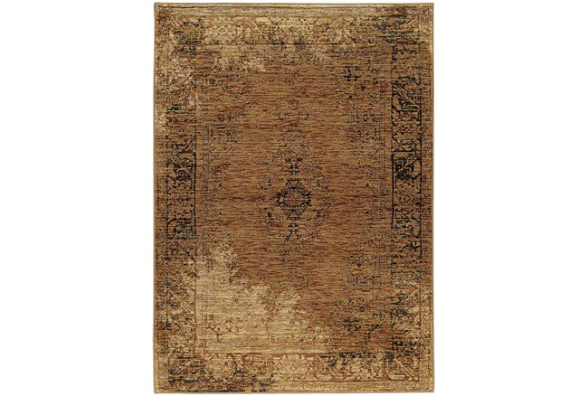 94X130 Rug-Adarra Moroccan Faded Gold - 360