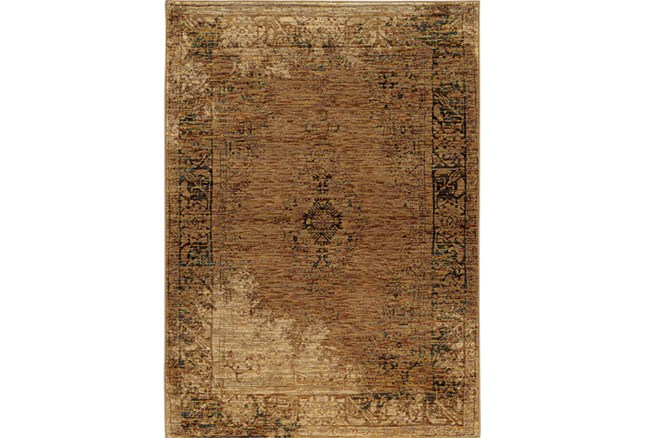 102X139 Rug-Adarra Moroccan Faded Gold - 360
